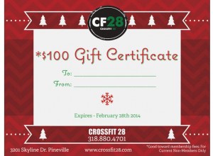cf 28 christmas gift certificate